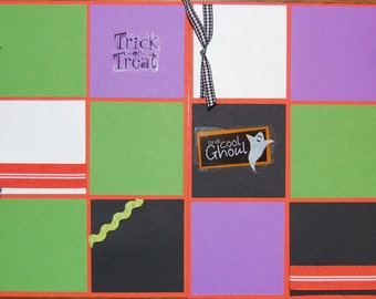 One Cool Ghoul 8X8 Premade Scrapbook Page HALLOWEEN Layout