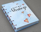 count your blessings - blank coptic hardcover doodle journal