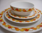 Retro Georges Briard Carousel Dishes
