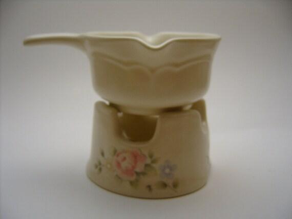 Pfaltzgraff Tea Rose potpourri or butter warmer