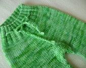 SALE! Wool Longies, Wool Soaker- Spring Green Longies- Size SMALL-