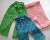 Wool Soaker Knitting Pattern- knit longies and shorties- DaisyHead Delight Pattern ONLY
