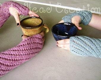 Fingerless Mitts Knitting Pattern- Spring Twirl- Pattern ONLY