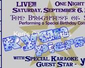 SALE - Star Concert Ticket Birthday Invitation - custom card