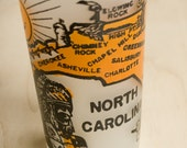 Vintage North Carolina Souvenir Glass