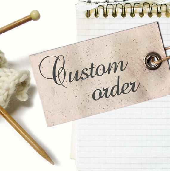 custom order for Lyn Bornman MIA hand knit cardigan in brown cotton acrylic yarn