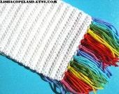 Rainbow Fringe Scarf