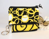 Zipper Pouch and Wristlet Keychain Gift Set in Iron Work