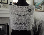 Ecru Cotton Twist Capelet