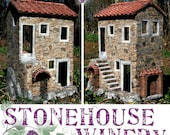 Stonehouse Winery - OOAK Custom 1 in Scaled Roombox