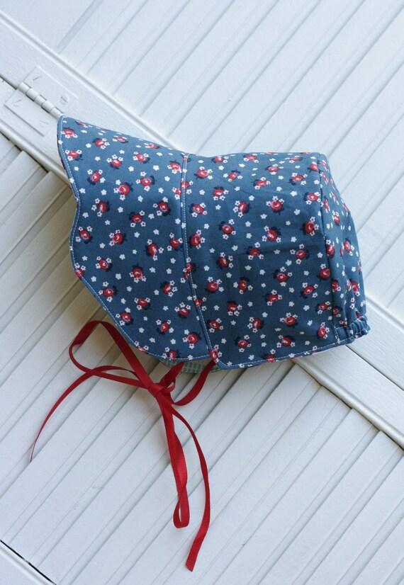 Vintage Inspired Scalloped Baby Girl Bonnet