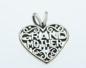 Sterling Silver Grandmother Heart Pendant