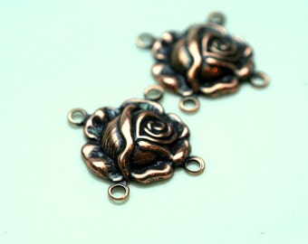 Trinity Brass Antique Copper Rose 4 Ring Connector