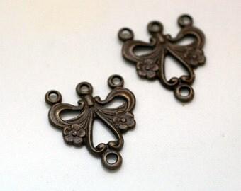 Trinity Brass Vintage Patina Phebe Connector - 4 Pieces