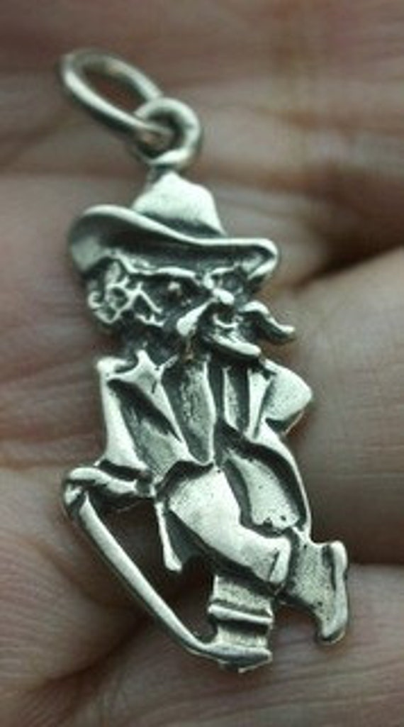 1 Sterling Silver Kernel Ole Miss Rebel Charm