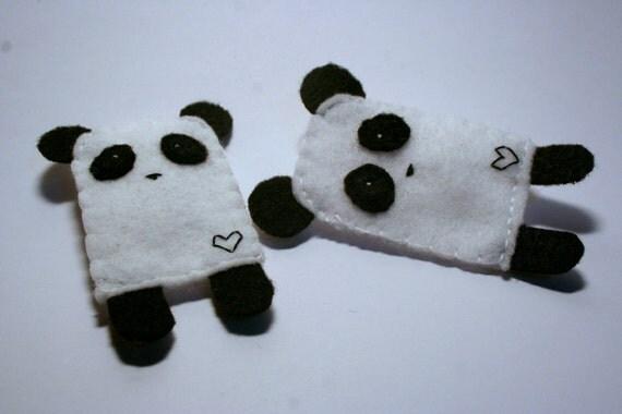 Felt Panda Brooch