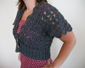 PATTERN - Emume Crochet Bolero Pattern- Cropped or Cardigan - PHOTO TUTORIAL - pdf - digital download - crochet shrug pattern