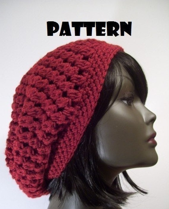 Crochet Patterns Slouchy Beanie : PATTERN Kelechi Slouchy Beanie Hat CROCHET PATTERN by MsSunflwr