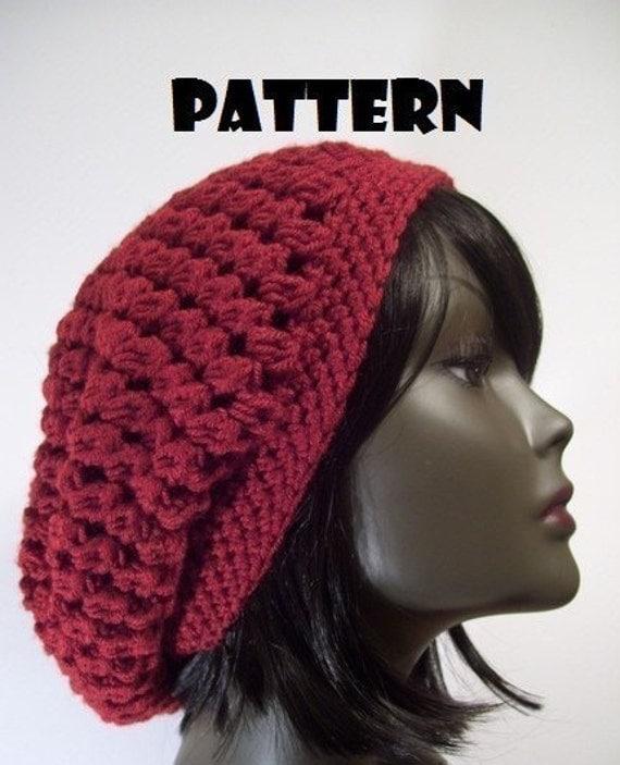 Crochet Pattern Slouchy Beanie : PATTERN Kelechi Slouchy Beanie Hat CROCHET PATTERN