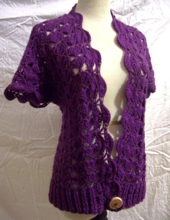 Free Vintage Crochet Bolero Patterns : PATTERN Emume Bolero Crochet Pattern CROPPED OR CARDIGAN