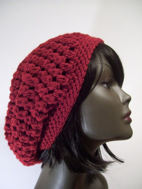 Crochet Slouchy Hat Patterns For Beginners : PATTERN Kelechi Slouchy Beanie Hat CROCHET PATTERN