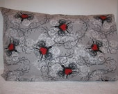 Travel Pillowcase..Pillow Cover..Hearts
