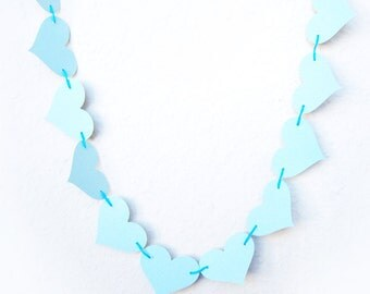 Garland Hearts Blue 10 ft  Adjustable