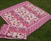 Secret Gardens Baby Girl Quilt and Pillowcase