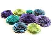 Handmade Spiral Flowers - As Seen In 'Bride's' Magazine - 6/10 - Gymboree - Set of 9