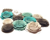 NEW Handmade Spiral Flowers - Snowflake Boutique - Set of 12