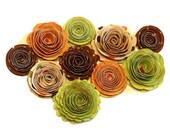 NEW Handmade Spiral Flowers Falling Leaves