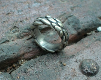 silver Anemone ooak cast sea life ring size 6 1/2 ready to ship