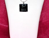 Bad Witch Glass Pendant Necklace