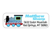 Train-- return address labels--quantity of 30---this listing is for MATTE stickers