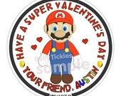 Super Mario or Luigi Valentine...party or address or name or holiday stickers