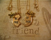 Best Friends Necklace Set with Flower Charm for Mother Daughter or Sisters sm