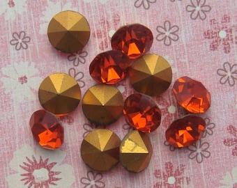 Vintage Swarovski Pointback Rhinestones ss48 Hyacinth Austrian Lead Crystal Chatons (choose 6 pc or 12 pc)