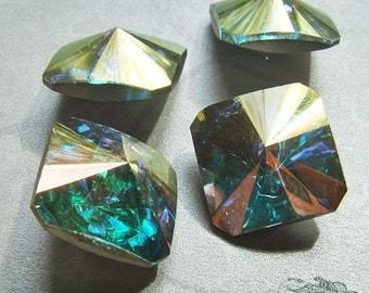 1 Vintage Swarovski Square Rivoli Stone - Art 4650 - 18mm Crystal