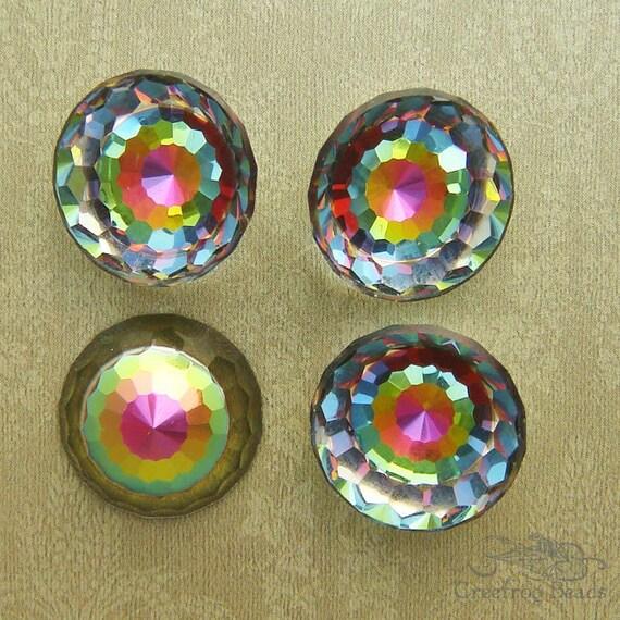 1 Rare Vintage Swarovski Stone - Art 2042 - 14mm Vitrail Discoball