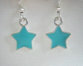 Girl's Turquoise Star Earrings by Temptations