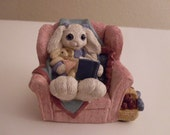 Cute Bunny in Reading Chair