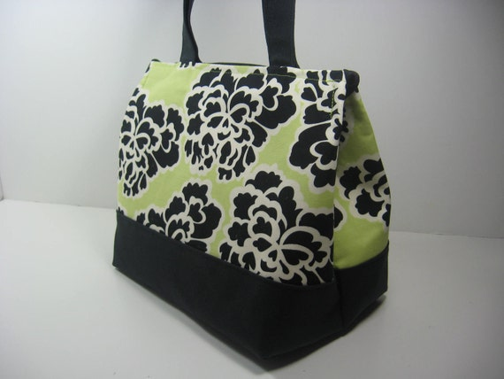 Insulated Lunch Bag Purse - Lacy Butterflies