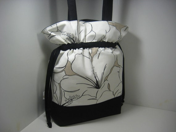 Insulated Lunch Bag Tote, Large - Simple Hibiscus