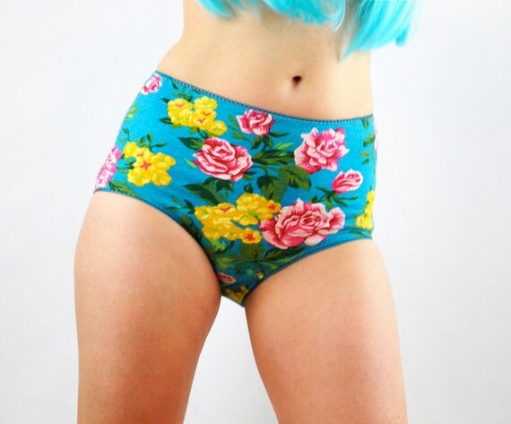 Floral Panties Retro Style lingerie