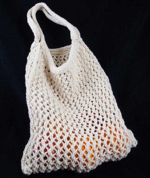 Market Tote Bag Cotton Hand-Knit