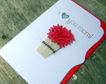 Handmade Cards For Men Pinterest I love you mom card /happy
