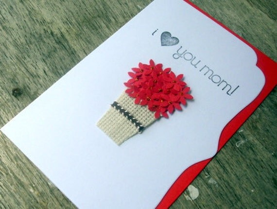 I Love You Mom Card, Happy Mother's Day Card, For Mom, Card for Her, Thinking of you Card, Mother's day Card