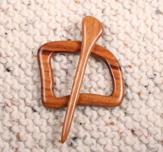 Mopani Wood Shawl Pin Set