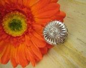 SUNNY DAY Antiqued Fine Silver Sunshine Motif Bead