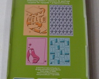 Provo Craft CuttleBug Embossing Folder Set of 4, Nifty Fifties